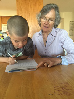 A student working with one of our tutors.
